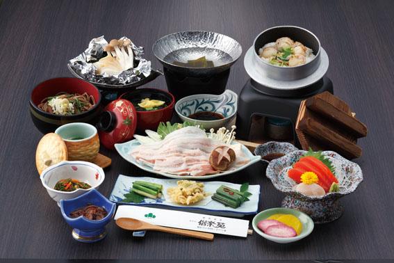 夕食例1(国産豚しゃぶしゃぶコース)