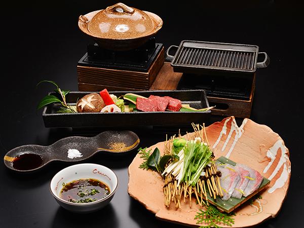 税別10,000円から!飛騨牛・鰤(ぶり)しゃぶの会席料理