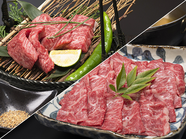 飛騨牛・国産牛を炭火焼きステーキで食べ比べ!みぞれ鍋はA5等級飛騨牛を使用!