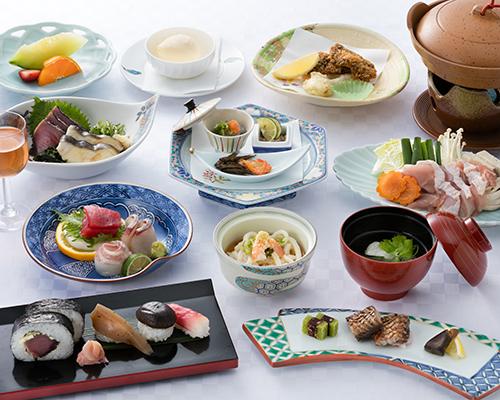 【夕食】高知ならではの珍しい和食がズラリ!龍馬会席、全12品