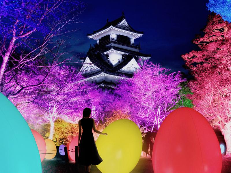 チームラボ★ 高知城光の祭