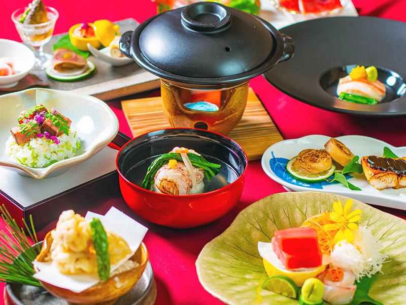 その時々旬の食材をメニューに織り込んだ和食会席(画像はイメージです)