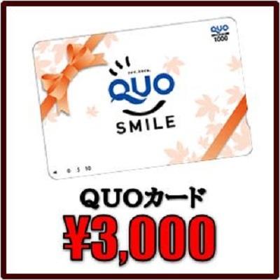 QUO 3000円付!