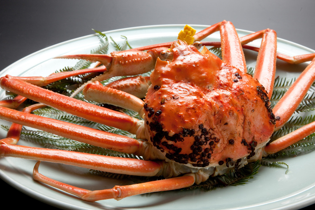 越前蟹はゆで蟹がメイン