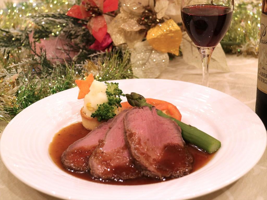 クリスマスディナー付きプラン(ローストビーフ)