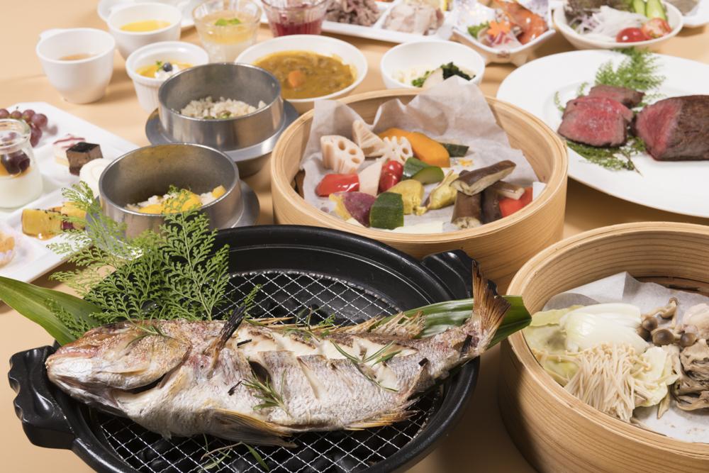 紅葉鯛に淡路牛、秋野菜に焚き込みご飯!!