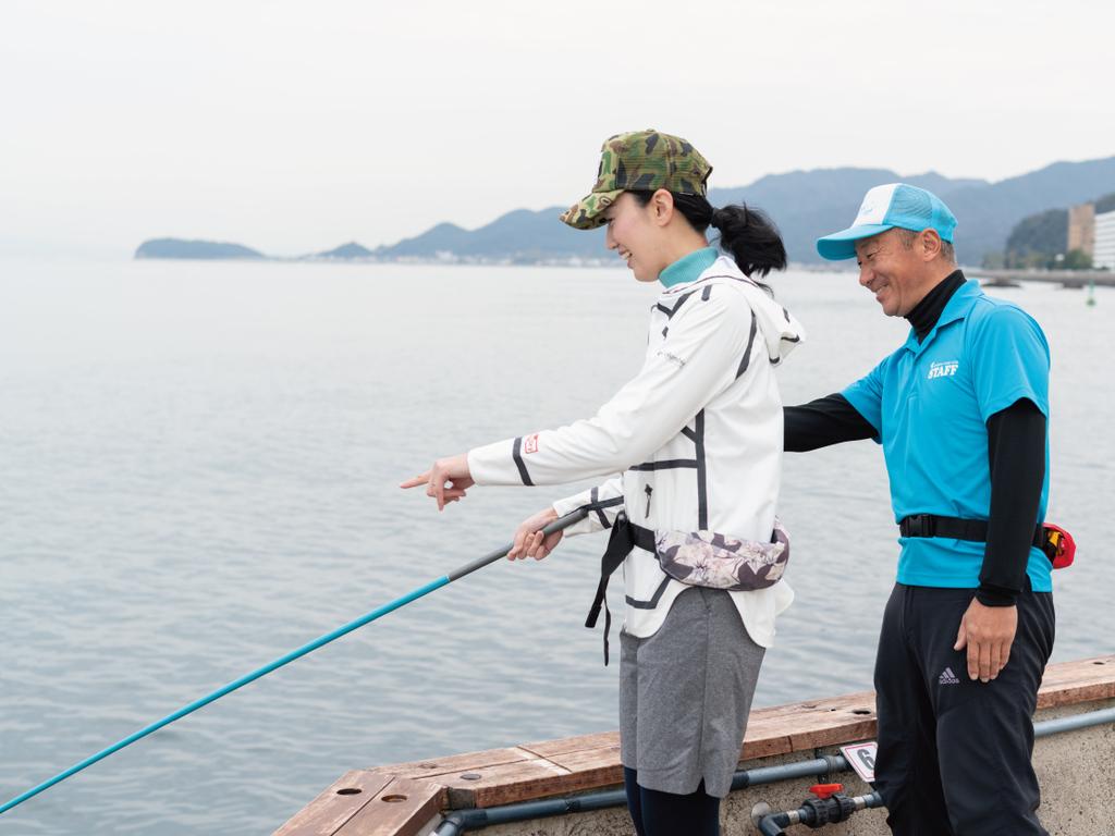 釣り場スタッフがサポートします!