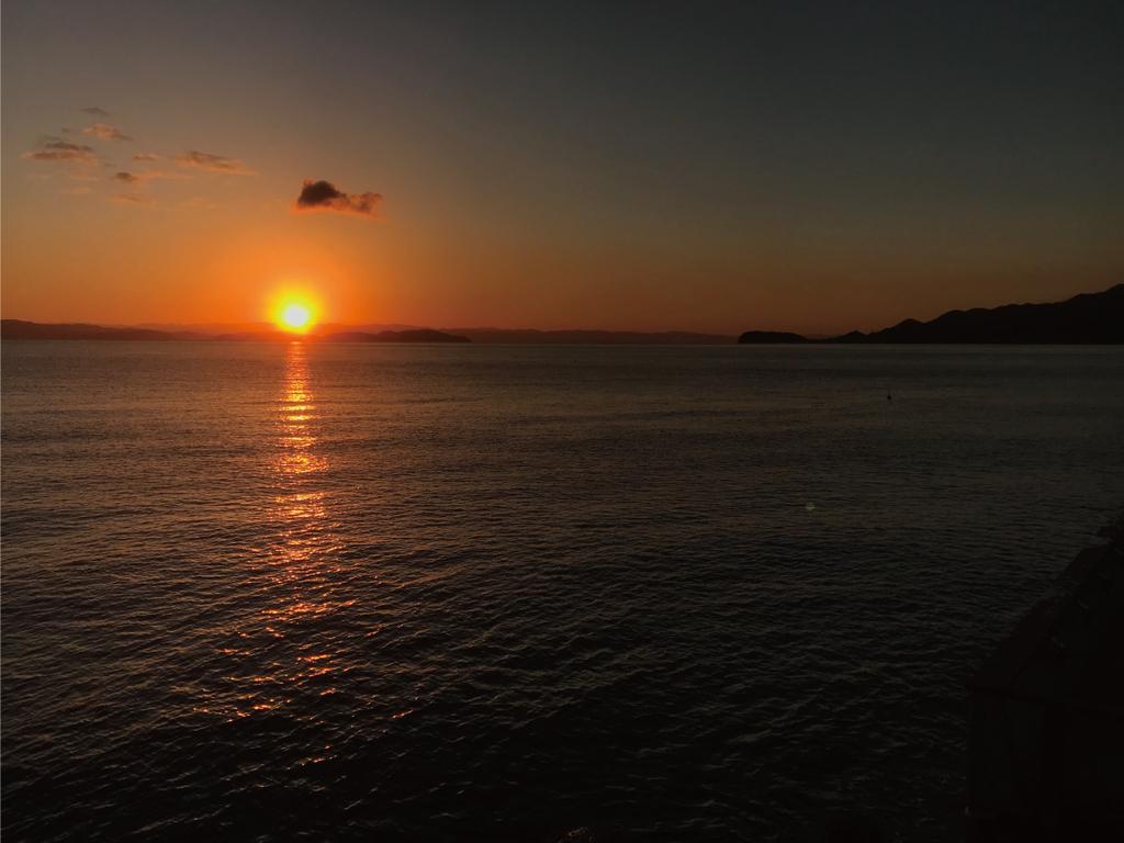 紀淡海峡の美しい初日の出を!