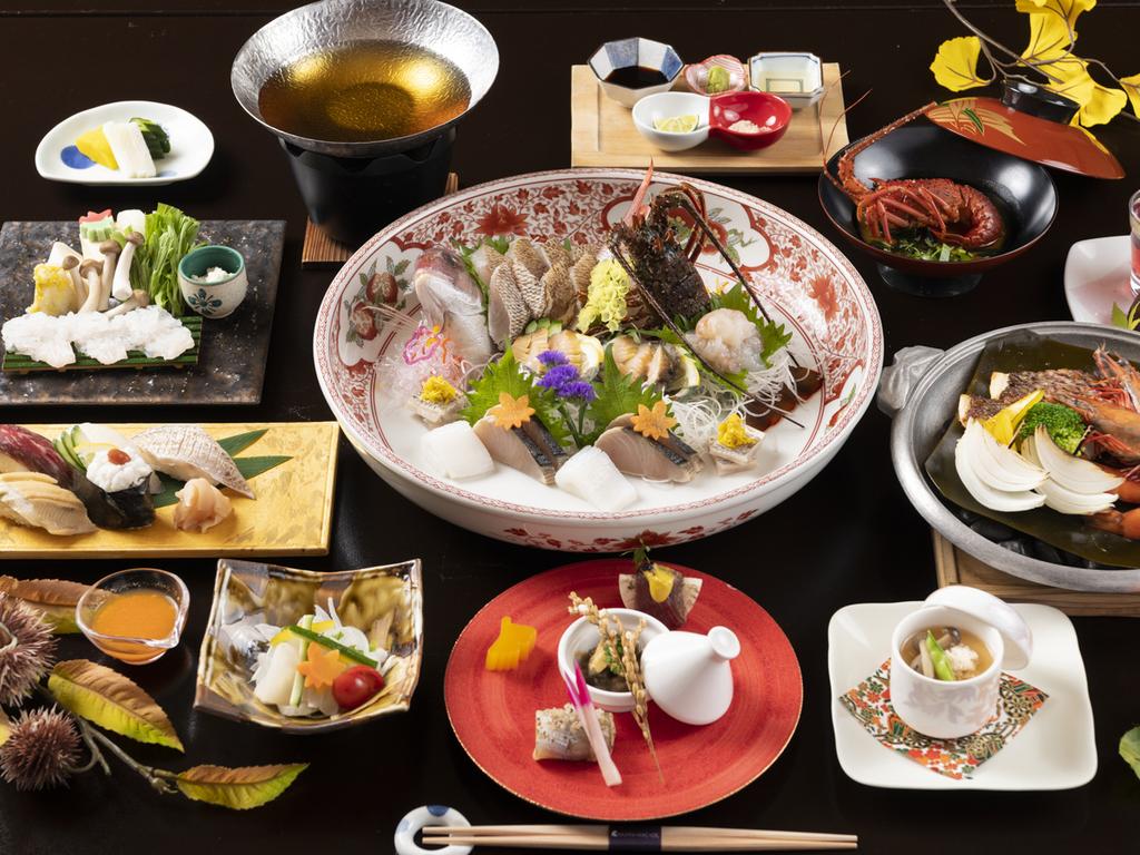 「伊勢海老と鯛の宝楽焼」コース