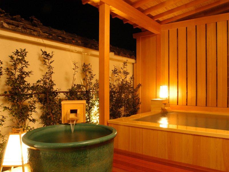 【大浴場】天星の湯の露天風呂と水風呂