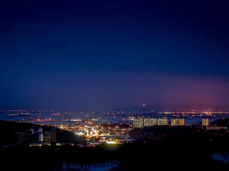ホテルからの風景〜北広島市街地夜景〜