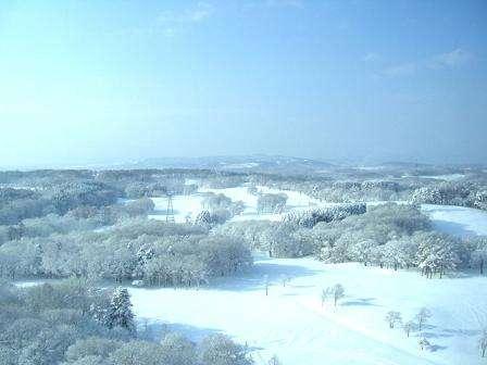 冬にはホテル一面銀世界に変わります