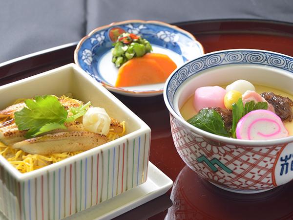 茶碗蒸しと長崎穴子蒸し寿司セット