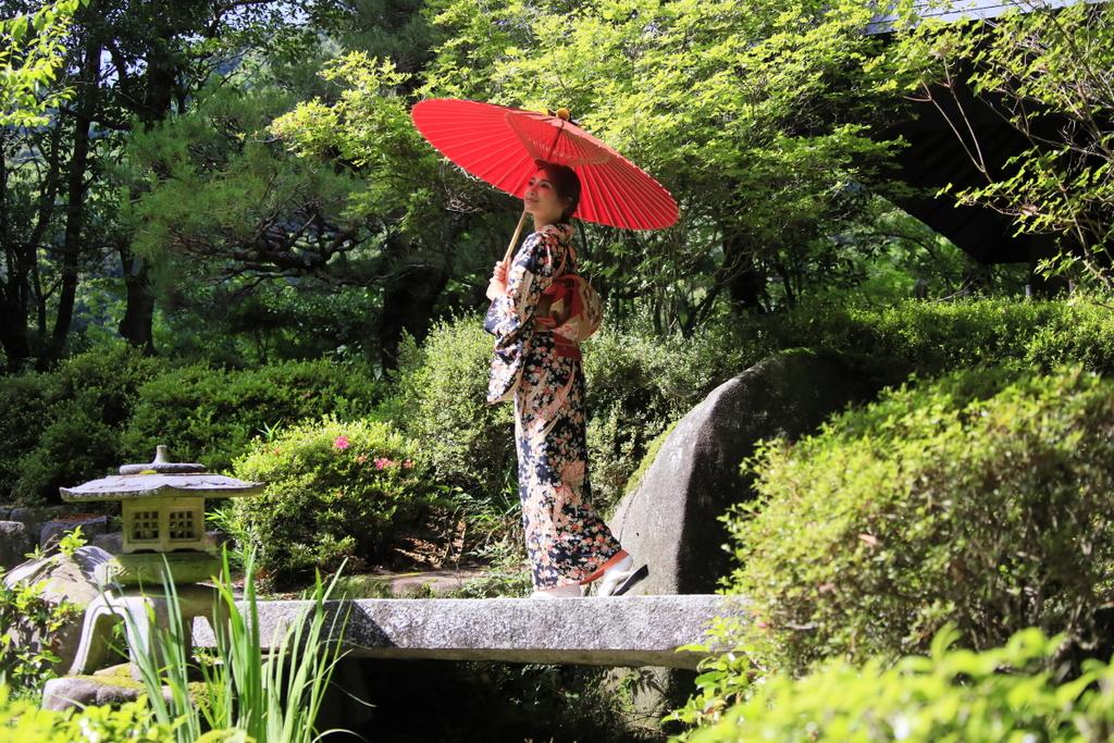 一人でゆっくり庭園を散策…