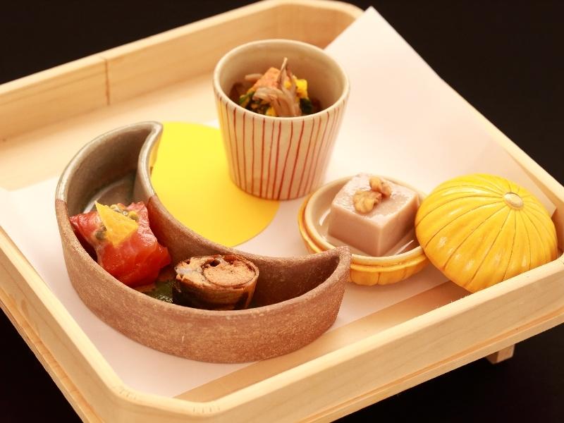 【会席料理】藤井荘のスタンダード会席ご用意致します(前菜の一例)