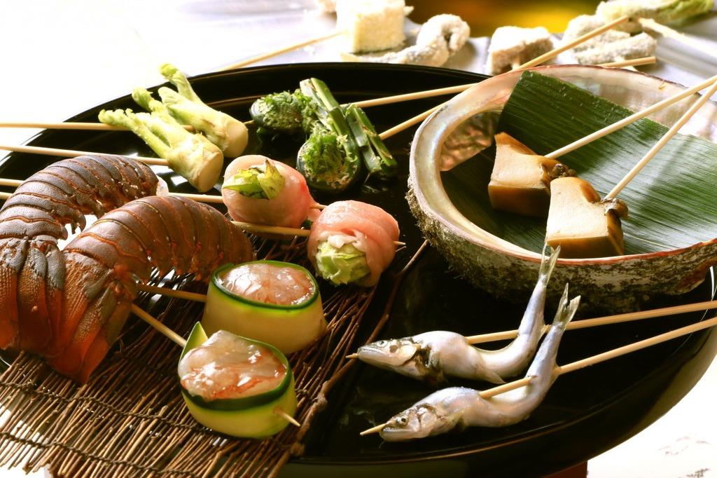 お料理アップグレード(鮑・伊勢海老)