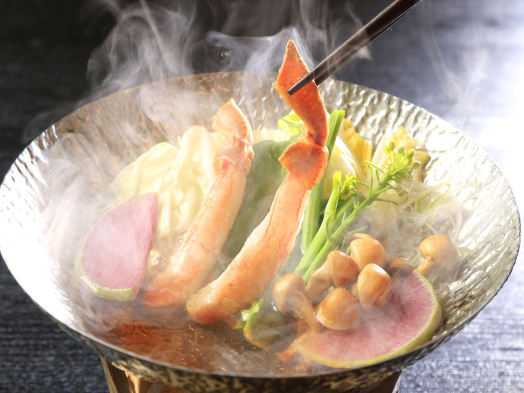 ずわい蟹小鍋仕立て 高原野菜