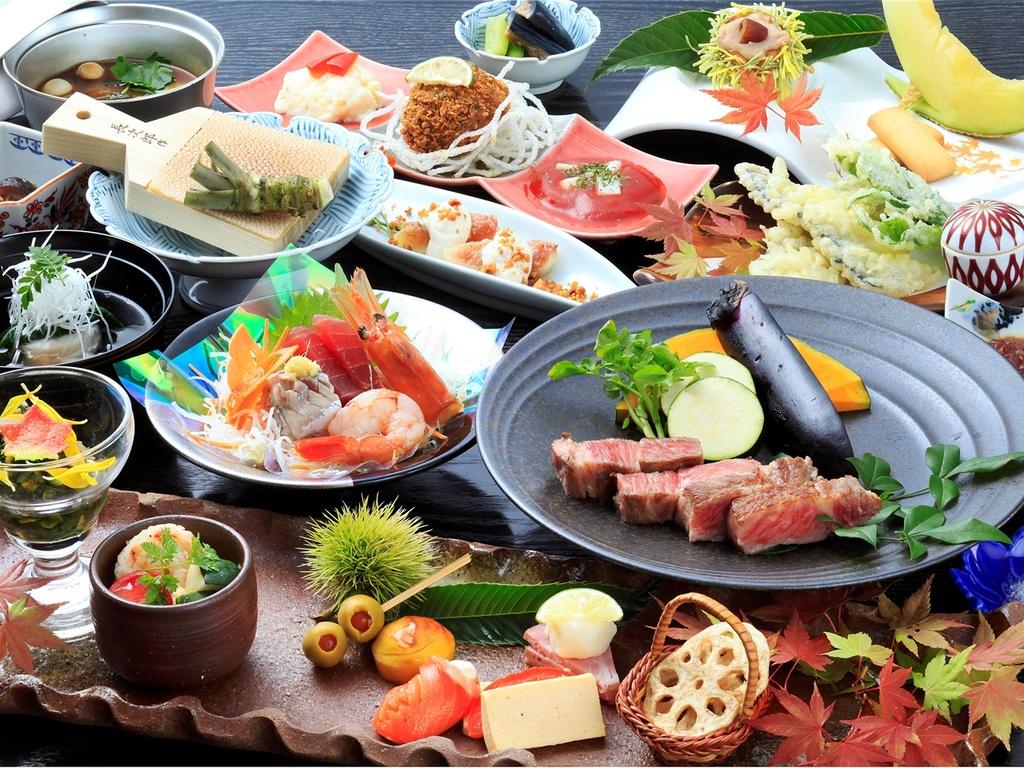 旬の食材を使用したこだわりの和食会席(一例)