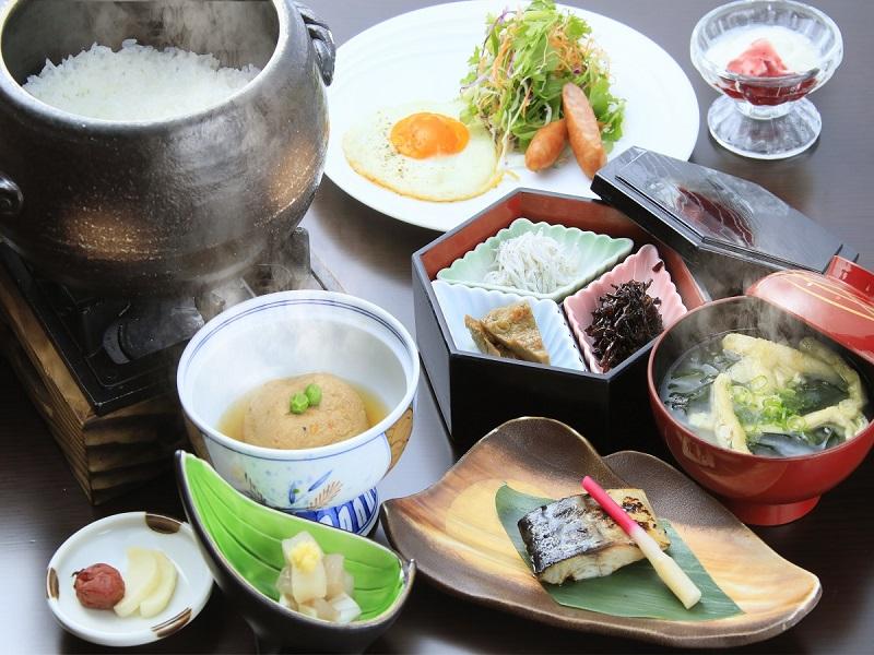 食材にこだわった和朝食(一例)
