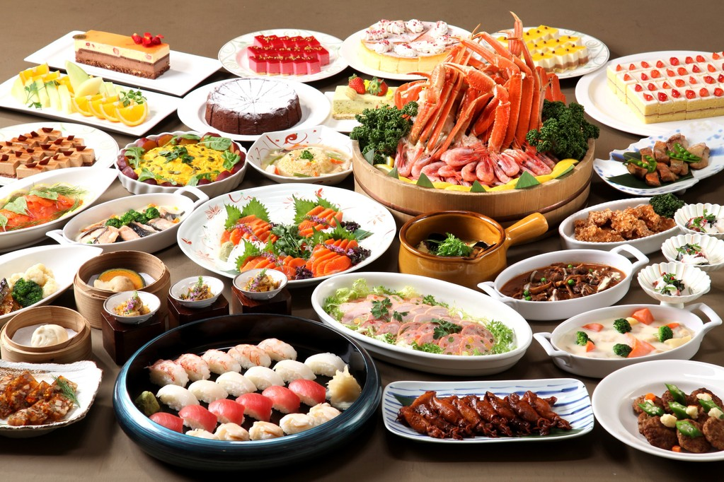 【夕食】和洋中50品ディナービュッフェ