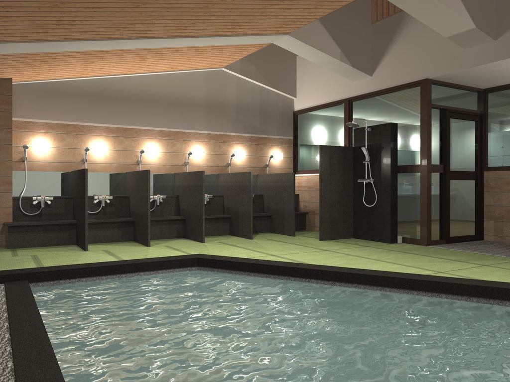 【展望畳大浴場 湯Like】宮島一美しい夕陽が望める。畳を敷いた湯ニークな展望大浴場を設えました。