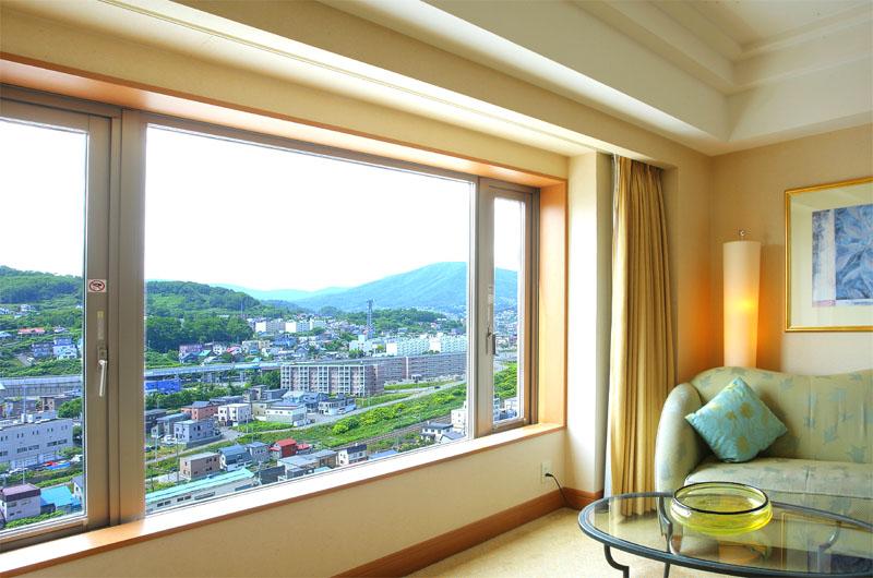 山側客室の眺め