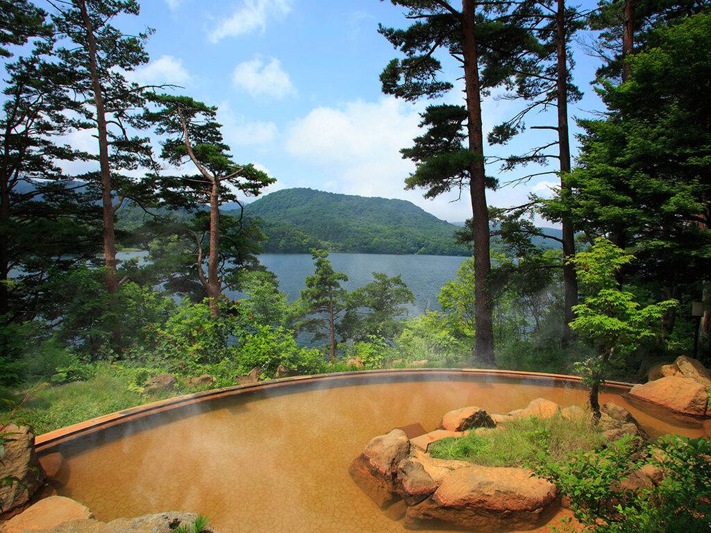 エリア唯一の自噴温泉
