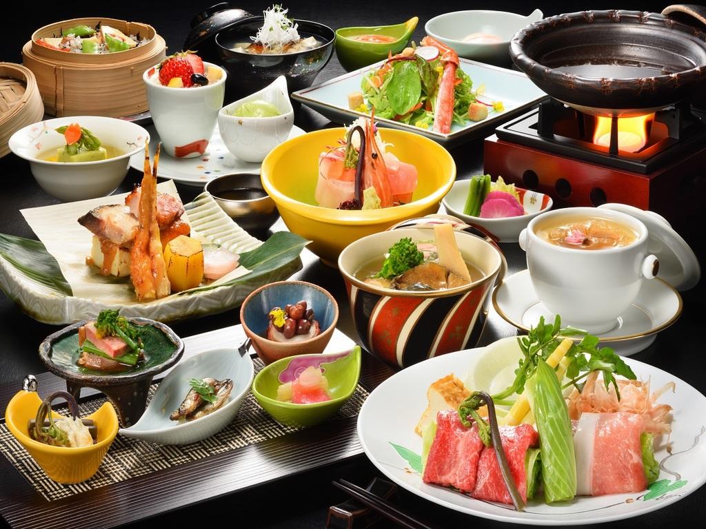 旬の会津野菜をふんだんに使用した本格和会席
