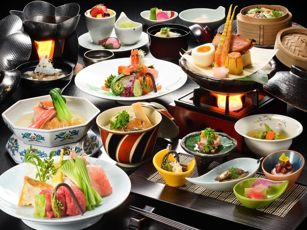 旬の会津野菜をふんだんに使用した最高級和会席