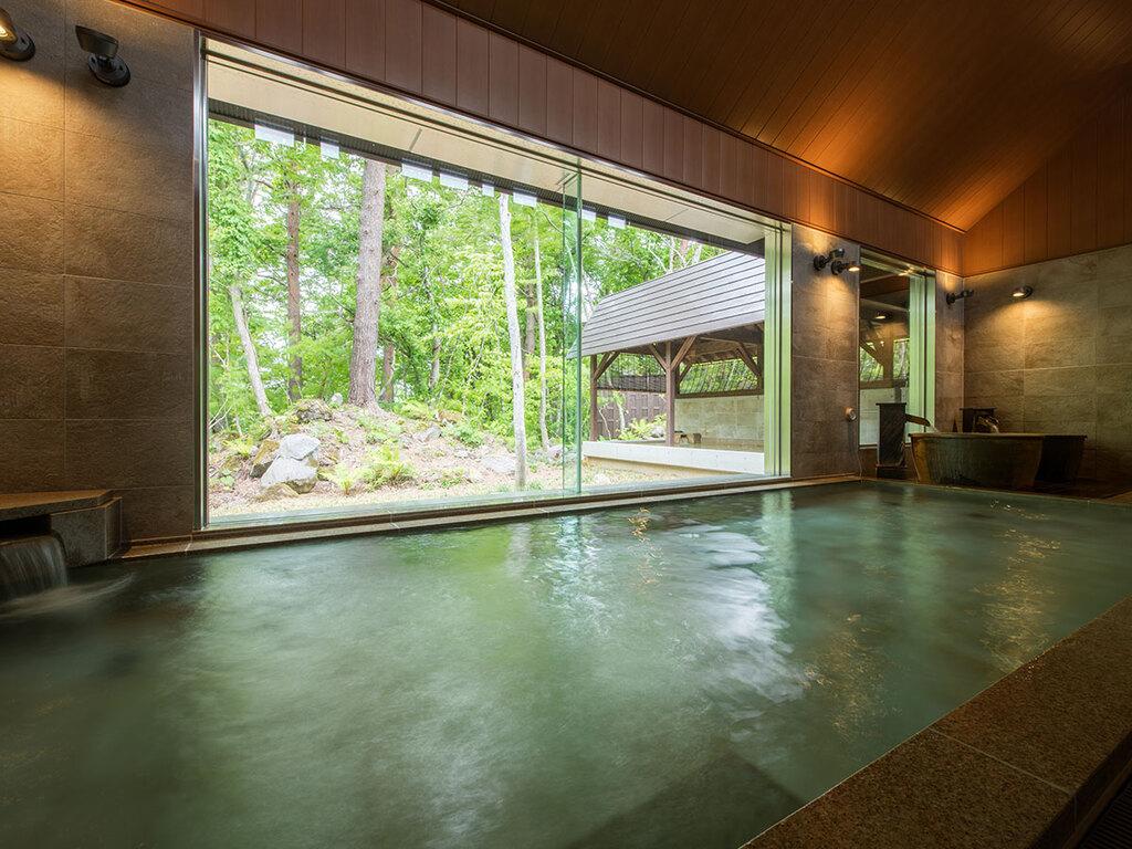 迎賓館・猫魔離宮宿泊のお客様専用大浴場「虹の森温泉」