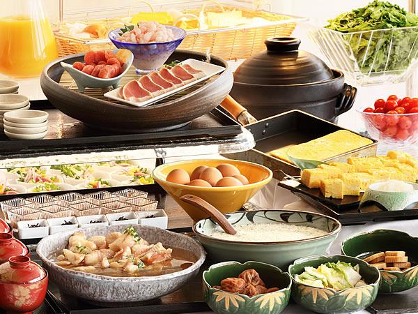 【朝食】バイキングメニューの一例
