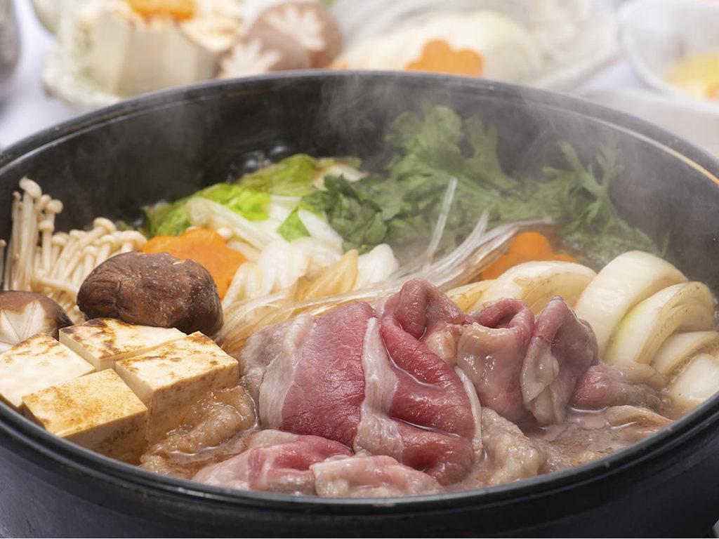 選べる鍋から道産牛のすき焼き