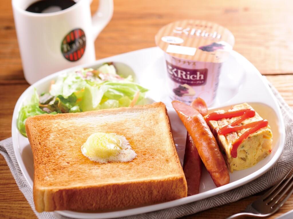 タリーズ朝食一例(トーストプレート)