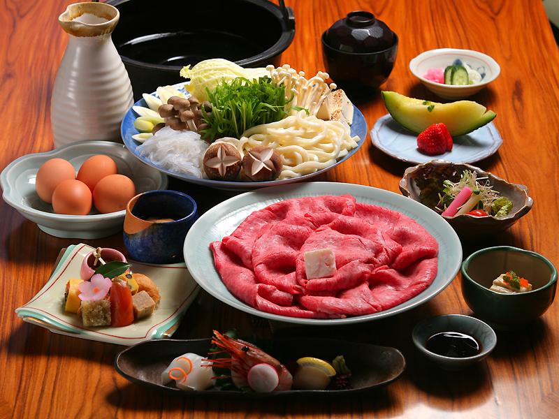 神戸牛すき焼き会席(イメージ)