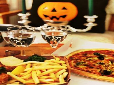ハロウィン ミックスピザ&チキンバスケット
