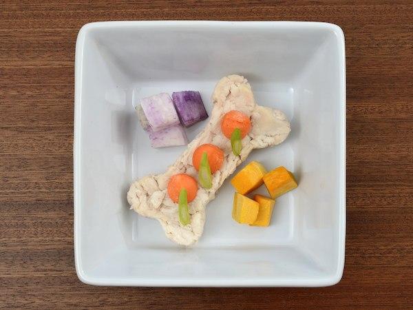 美味鳥の鶏肉バプール60g 鎌倉野菜を添えて