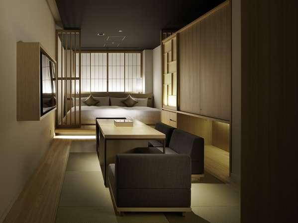 京都の町家をイメージした奥行きのある部屋