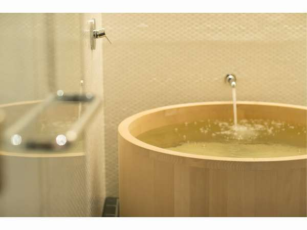 All rooms have a cypress bathtub