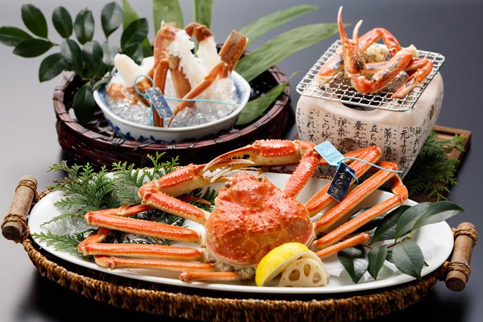 タグ付き蟹(茹で蟹・蟹刺し・焼蟹から調理法をお選びいただきます)
