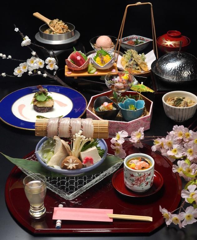 桜鯛の鍋しゃぶと春の会席
