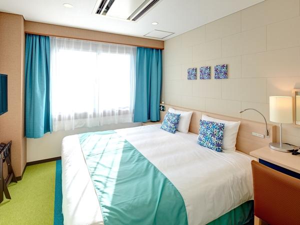 【本館】コンパクトハリウッドツインルーム 2台のベッドを連結させたハリウッドツインルーム