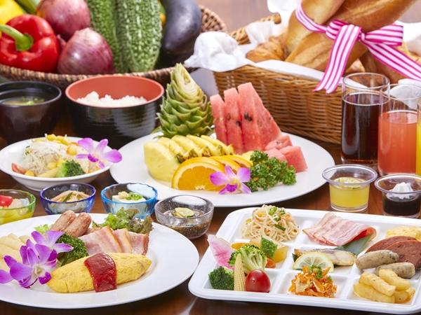 【ご朝食ビュッフェイメージ】 シェフこだわりの和洋食と沖縄料理が多彩に並ぶ。/ビュッフェレストラン マーセン