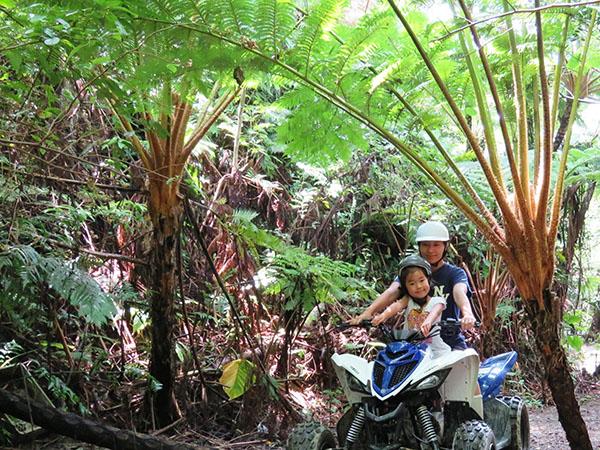 【バギー体験】オフロードや森林コースを楽しめます。