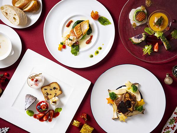 【2021クリスマスディナーイメージ】 新鮮な食材をふんだんに使用したクリスマスならではの美食をご満喫ください。