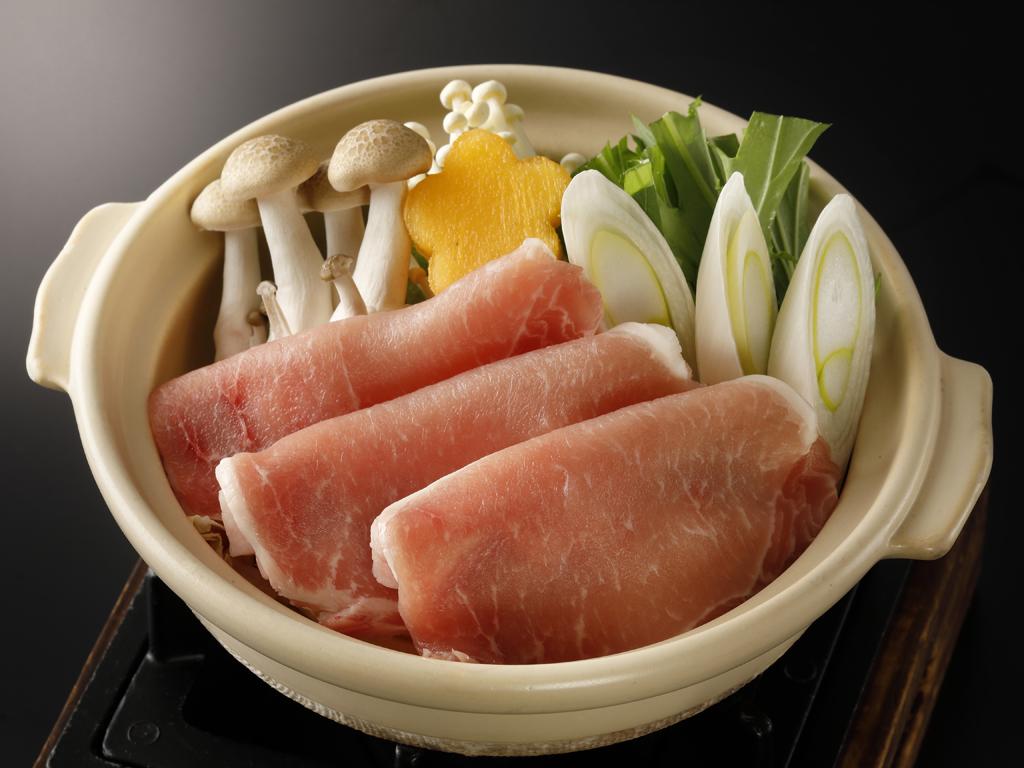 豚肉の生姜鍋 あったまる〜