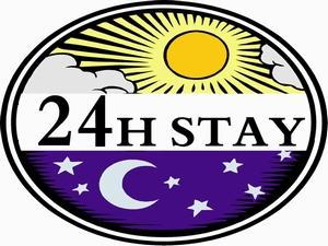 12時から12時まで最大24時間滞在可能のプラン♪