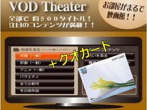 クオカード2000円とVOD見放題をセットにしたプラン
