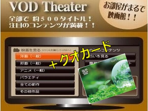 クオカード3000円とVOD見放題をセットにしたプラン