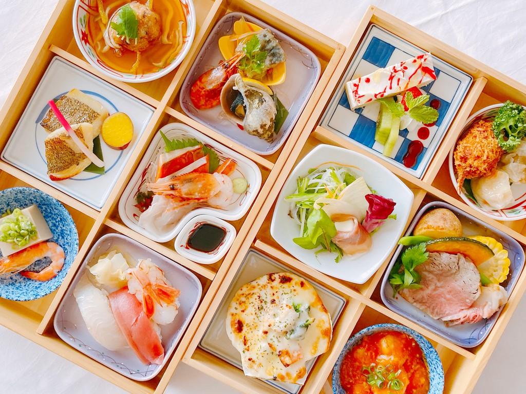 お部屋食プラン 全12品の和洋中弁当