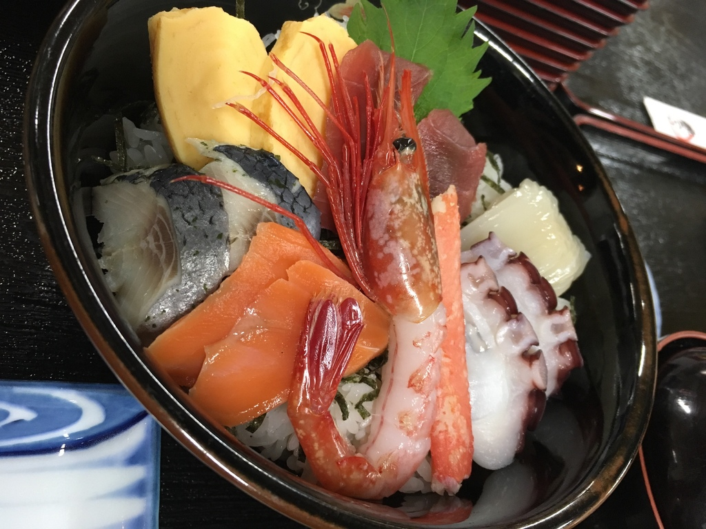 海鮮丼 夕食